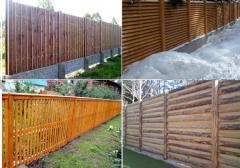 Установка заборов из дерева.Деревянный забор - один из самых недорогих и распространенных видов ограждения.