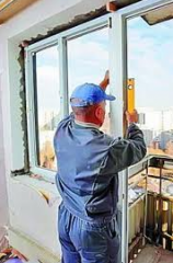 Installation of metalplastic windows