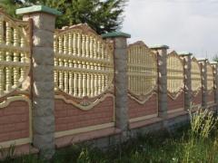 Установка бетонных заборов, ограждений, колец для