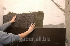 Facing of walls tile