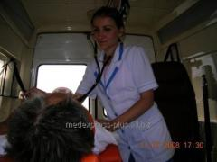 Medical transportation of the patient Ukraine,