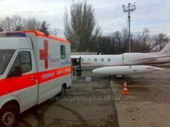 Medical transportation of the patient abroad,