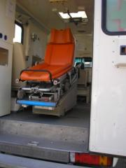 To transport the patient from Kharkiv