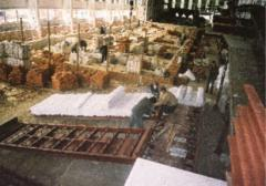 Construction of furnaces on roasting of a brick