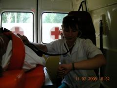To transport the patient to the railway station