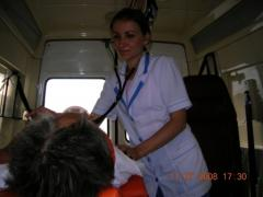 Transportation of the patient in a serious