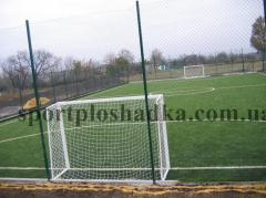 Construction of football fields, construction pass