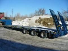 Услуги трала для транспортировки крупногабаритных