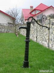 Decorative garden crane, design of a garden