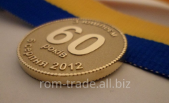 Anniversary medal from gold to order
