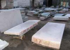 Cutting of granite, marble, sandstone