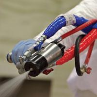 Waterproofing polyurethane foam