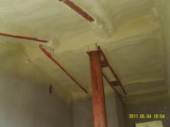 Waterproofing of walls and roofs polyurethane foam