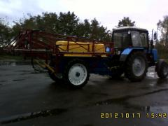Capital repairs, re-equipment of sprayers with
