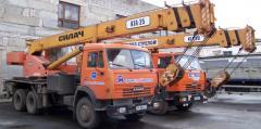 Услуги строительной техники - Строительная техника для выполнения строительно-монтажных работ любой сложности: грузовые автомобили, самосвалы КАМАЗ, автобетоносмесители, бетононасосы, экскаваторы, автокраны и автовышки.