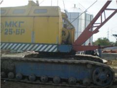 Аренда  крана МКГ 25 БР, оснащенных БСО, кран МКП-25
