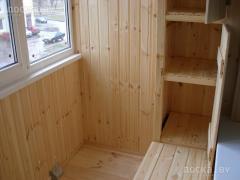 Балкон - обшивка вагонкой из натурального...