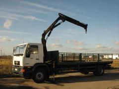 Transportation of goods by the crane manipulator