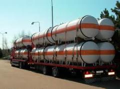 Перевозки сжиженного углеводородного газа (СУГ), в автомобильных цистернах