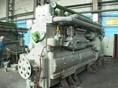 Repair of diesel D50, D49, 6ChN21/21, D12 engines