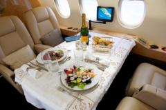 Onboard food of a VIP class