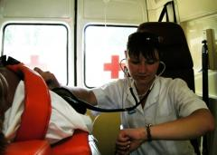To transport the patient after a heart attack,