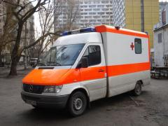 To transport the patient from Kherson to
