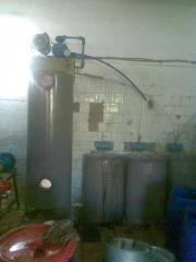 Equipment for production of oil of a sunflower
