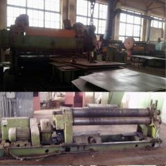 Services in editing and cabin of metal sheets