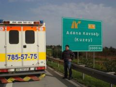 To transport the patient from Ukraine to Georgia,