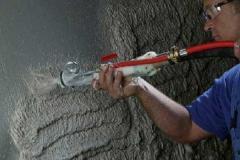 Традиционная цементно-песчаная штукатурка, штукатурка внутренняя машинным способом