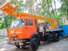 Аренда автовышки АГП-22 (телескопическая)
