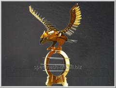 Laser cutting of 3D metal - puzzles. Eagle