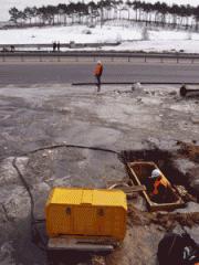 Bestransheyny laying of pipelines by GNB method