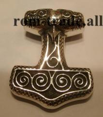 Молот Тора из серебра на заказ