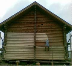 Repair, repolishing and painting of wooden houses
