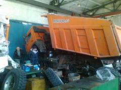Service of the KAMAZ trucks