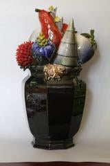 Vase ceramic with frui