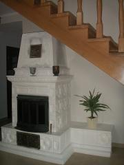 Fireplace from a tile