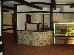 Dressing of bar counter painted tiles