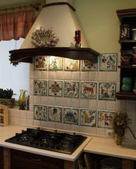 Ceramic tiles for a fringing of walls of pictures,