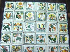 Ceramic painted tile of handwork