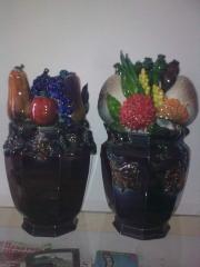 Vase ceramic with frui