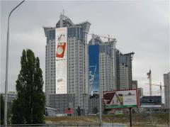Реклама на брандмауэрах в Киеве и области