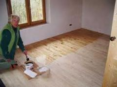 Preparation of the basis of wood (cleaning,