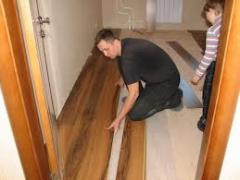 Installation of an inlaid floor