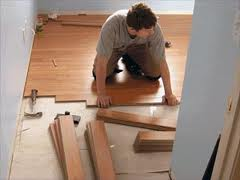 Laying of the laminated parque