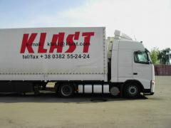 Cargo transportation automobile to neighboring