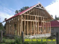 Строительство деревянно-каркасных домов, ...