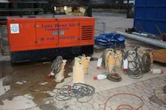 Rent of the industrial pumping equipment and
